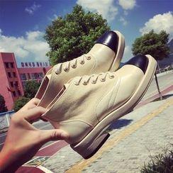 Micha - Contrast Toe Cap Lace-Up Shoes