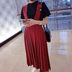 Eva Fashion - Accordion Pleat Jumper Skirt
