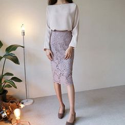 Hello sweety - Laced Pencil Skirt