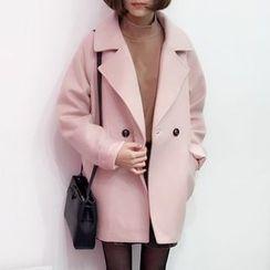 YUKISHU - Notch Lapel Double-Breasted Coat