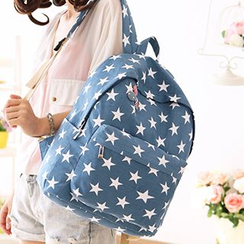Canvas Love - Star Print Canvas Backpack
