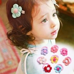 Aurabe - Kids Flower Hair Tie / Hair Clip