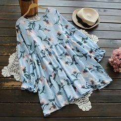 YOYO - Long-Sleeve Floral Dress