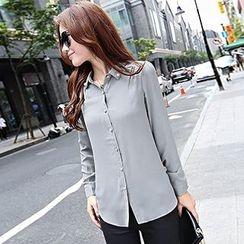 Romantica - Long-Sleeve Beaded Shirt