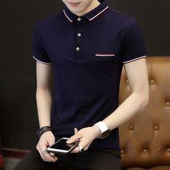 Dipuruosi - 条纹短袖马球衫
