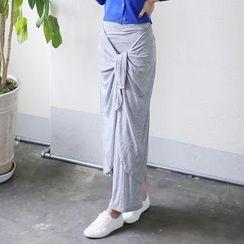 Envy Look - Tie-Waist Maxi Skirt