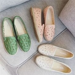時尚麥樂 - 飾花拼接輕便鞋