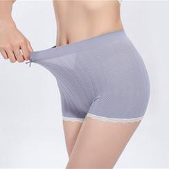 Meigo - 蕾丝边打底短裤