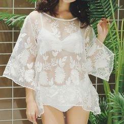 Lady J Swimwear - Set: Plain Bikini + Cover-Up