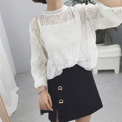 Anlay - Set: See-Through Lace Top + Camisole Top
