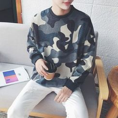 qiaqiayes - Camo Pullover
