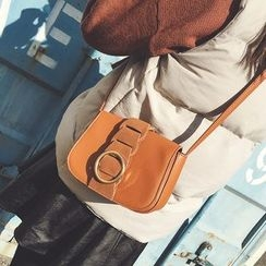 Rosanna Bags - Faux Leather Flap Crossbody Bag