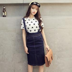 Porta - Denim Jumper Skirt