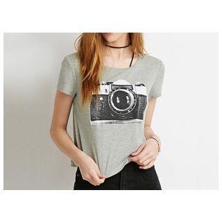 Richcoco - Camera Print T-Shirt