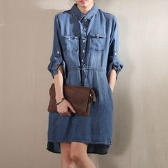 P.E.I. Girl - Long-Sleeve Denim Dress
