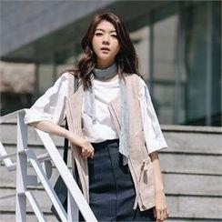 MAGJAY - Linen Drawstring-Waist Vest