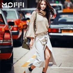 MOFFI - 樽領燈籠袖毛衣