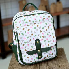 Youshine - Leaf Print Nylon Backpack