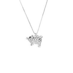 Glamagem - 12 Zodiac Collection - Cute Pig With Necklace