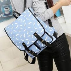 Miss Sweety - Mustache-Print Backpack