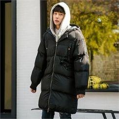 STYLEMAN - Padded Long Hoodie Jacket