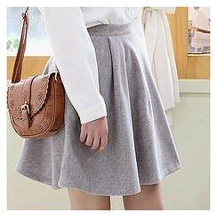 Sechuna - A-Line Buttoned Skirt