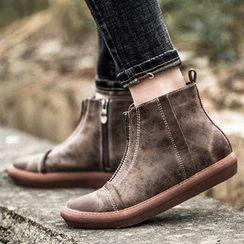 MIAOLV - 前拉鏈踝靴