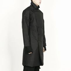 Remember Click - Double-Breasted Padded Long Jacket