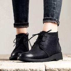 MIAOLV - Low Heel Desert Boots