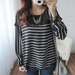 CYNTHIA - Striped Chiffon Blouse