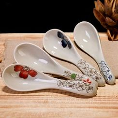 Time4Tea - Floral Print Ceramic Spoon