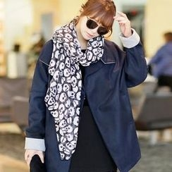 Jcstyle - Skeleton Print Long Scarf