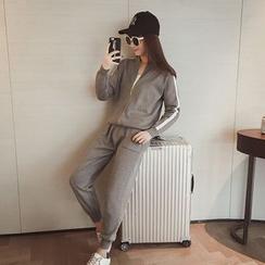 Ashlee - 套装: 拉链外套 + 运动裤