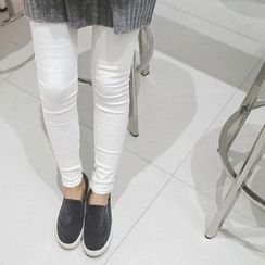 mimi&didi - Brushed-Fleece Lined Skinny Pants