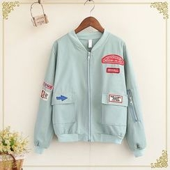 Fairyland - Patch Embroidered Bomber Jacket