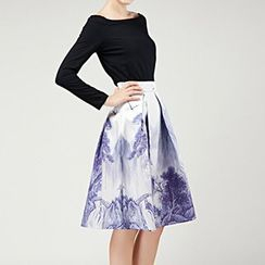 Flore - Floral Midi Skirt