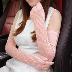RGLT Scarves - Lace Panel Mesh Long Gloves