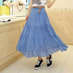 Pasmer - Tiered Long Skirt