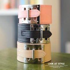 REDOPIN - Faux-Leather Buckled Bracelet