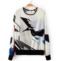JVL - Long-Sleeve Printed T-Shirt