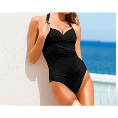 Rivergirl - Ruched Halter Swimsuit