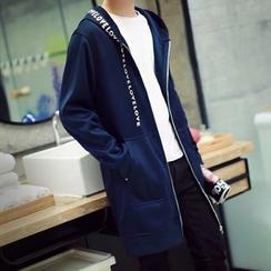 Seoul Boy - 连帽长款拉链外套