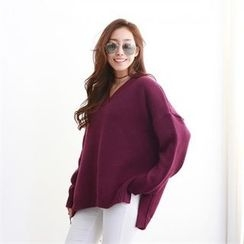 PIPPIN - V-Neck Loose-Fit Knit Top