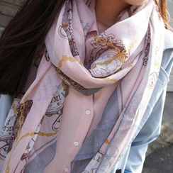 Rita Zita - Clock Print Light Scarf