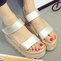 MXBoots - Velcro Ankle Strap Platform Sandals