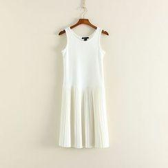 三木社 - 无袖饰褶连衣裙