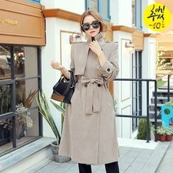 DABAGIRL - Long Trench Coat with Sash