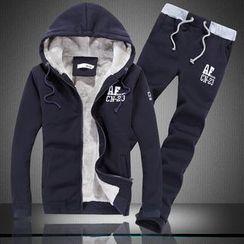 uninukoo - Set: Fleece Lined Hooded Jacket + Sweatpants