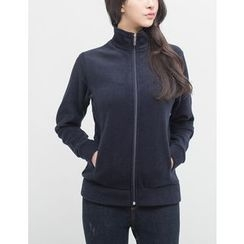 GUMZZI - Brushed-Fleece Zip-Up Jacket