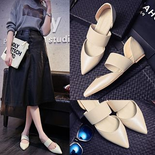 Kireina - Faux-Leather Flat Sandals